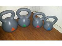Kettlebells gym fitness weights