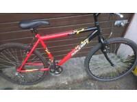 RALEIGH MENS MOUNTAIN BIKE 🚴, 18 INCH FRAME, 26 INCH WHEEL'S, 18 GEARS, GOOD CONDITION