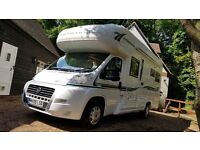 Immaculate Fiat AutoTrail Apache 632 Motorhome, low mileage, double fixed bed, awning, bike rack