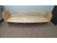 Pine rubberwood shelf