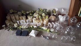 Beautifully classic Wedding Decorations used to decorate a castle for a wedding