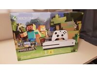 Brand new Xbox One S bundle (Minecraft), 500 GB original packing (unpacked)