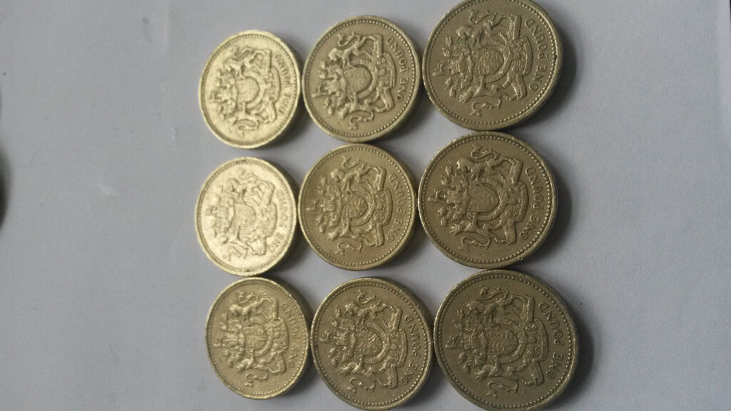 £1 coins pound coins see pictures rare