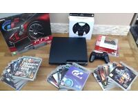 Playstation 3 320GB with 18 Games 2 Controller & Racing Wheel
