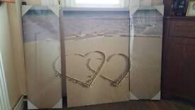 Large beach canvas print
