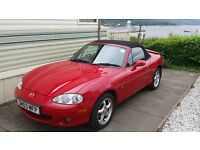 Mazda MX5 for sale, Genuine low mileage only 42,000k drives like a new car, MOT until May 2017,