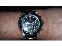 mens stainless steel divers watch