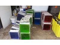 Glass Blocks Bricks 19x19x8 cm