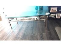 Coffee table and cd system