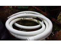 Perforated drainage pipe- 25m of 10cm diameter- surplus