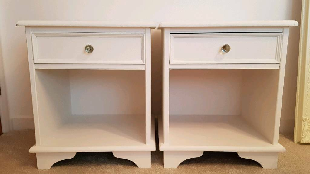 Antique white bedside tables with drawers excellent condition set antique white bedside tables with drawers excellent condition set of 2 watchthetrailerfo