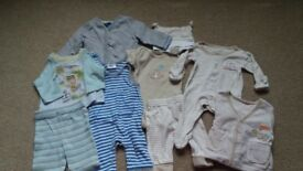 Bundle of newborn clothes