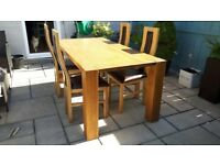 Barker and Stonehouse Oak Dinning table and Chairs