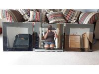 Three matching mirrors