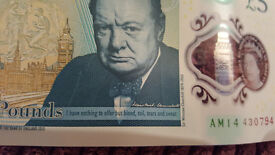 5£ plastic note AM14
