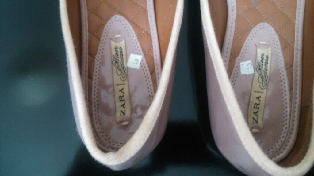 cd7489d5254 Pale pink flat ex Zara shoes for sale | in Greenwich, London | Gumtree