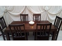 Mango table & chairs, solid wood, £ 95