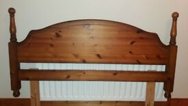 Erinwood antique pine double headboard