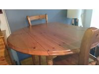 Round Pine Kitchen Table