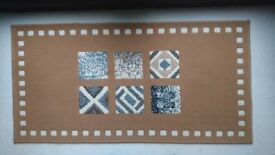Used Modern Rug Light Brown/Cream/Grey (140cm x 70.5cm)