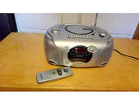 ALBA CX576SIL CD Radio Cassette - Silver with remote