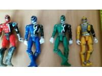 "Power rangers SPD vintage 2005 6""action figures ×4 SPD 1,2,3 & 4 see pics"