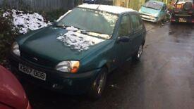 2000 Ford Fiesta Zetec 5dr Hatchback 1.2L Petrol Green BREAKING FOR SPARES
