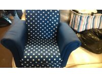 chairs childs pair of lovely blue with stars