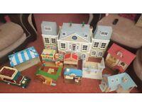 Large bundle of sylvanian families toys
