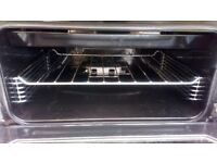 Black gas cooker double oven and grill