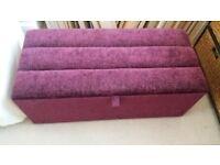 Bedding Box, brand new in purple fabric