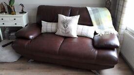 2 Harveys Leather Sofas