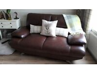 2 Harveys Leather Sofas