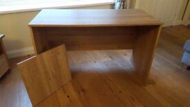 Oak effect desk/dressing table