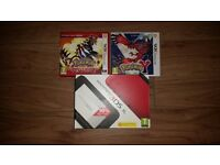 Nintendo 3DS XL with 2 Pokemon Games
