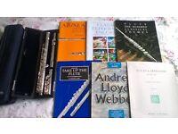 Trevor James TJ 10x Flute with case, carry bag & book bundle