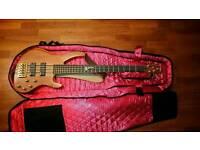 Vintage v10005b active bass guitar