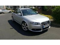 Audi A4 2.0 TDI, S-line saloon, Automatic, Silver. Full service history & MOT. Nice car throughout.