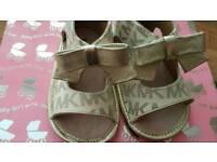Michael kors designer baby shoe