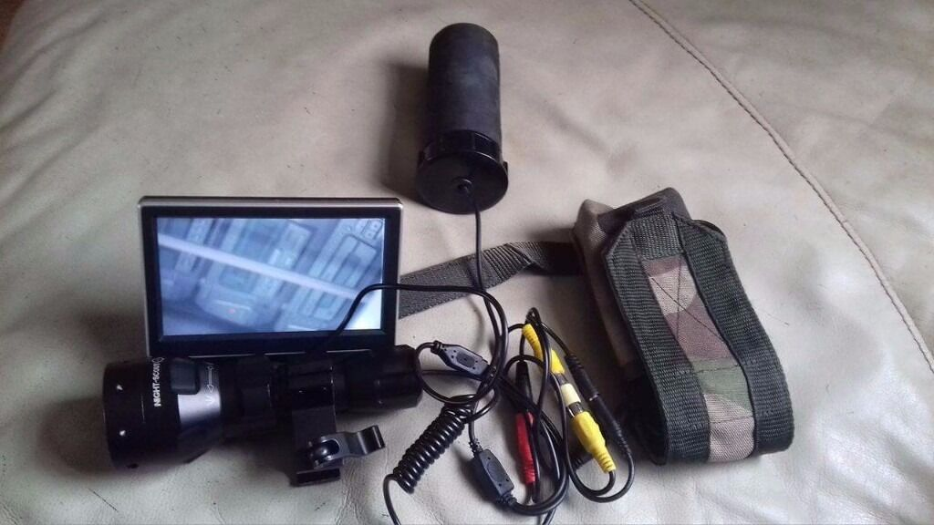 Night visionin Blandford Forum, DorsetGumtree - Add on Night vision. Unused. 2 Batteries. Battery stock pouch. Night scout T20 IR Torch. £100 No offers