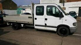 Vauxhall movano 3500dti flatbed twin cab pickup