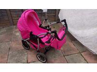 Baby Pram Pushchair Stroller Buggy 3 in 1 Car Seat
