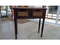Wicker & wooden drawers