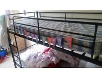 New bunk beds and 2 mattresses for sale