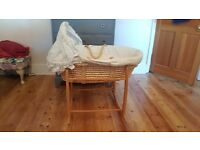 Clair De Lune moses basket with stand.