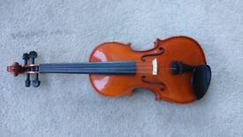 Andreas Zeller 3/4 Size Violin with Case/Bow/Shoulder Rest