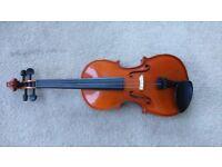 Andreas Zeller 3/4 Size Violin with Case/Bow/Shoulder Rest