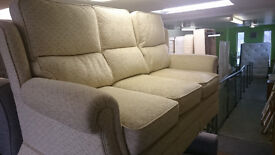 Cream fabric 3 seater sofa + armchair under 12 months old