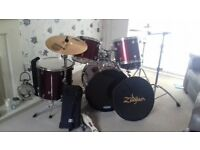 Drum Kit including Stool Cymbal and Stick Bag