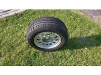 BMW E39 5 series spare wheel with new tyre.
